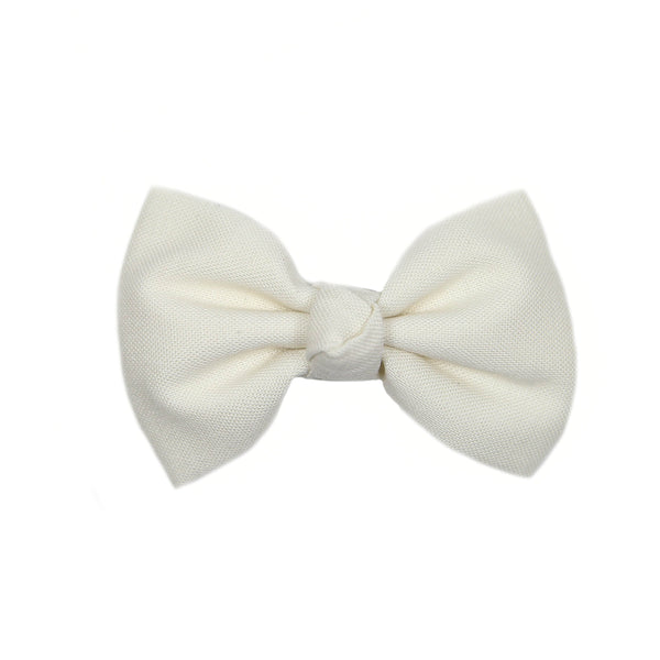 Cream Signature Bow Clip