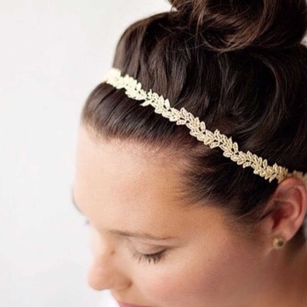 Adult Gold Isla Lace Headband