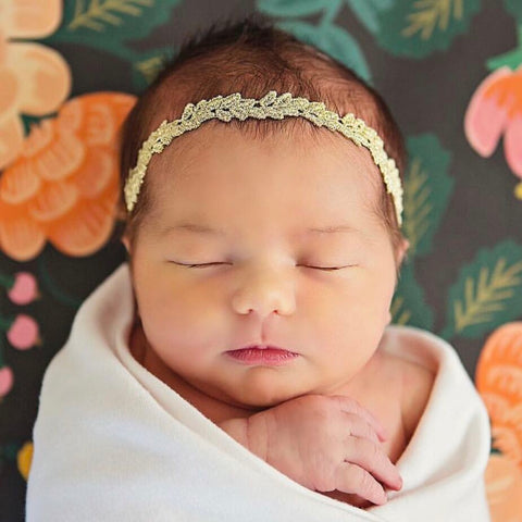 Gold Isla Lace Headband