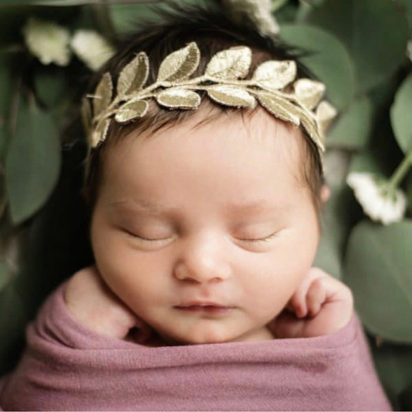 Gold Laurel Lace Headband