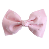 Pink Swiss Dot Ballet Bow
