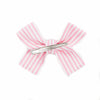 Large Stripe Loop Bow Clip