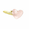 Rose Gold Leather Heart Clip - mini or signature
