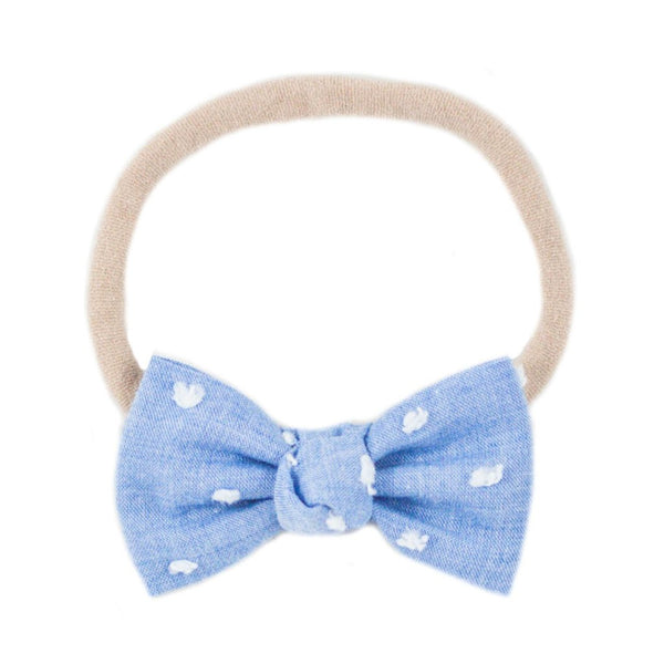 Petite Blue Swiss Dot Headband