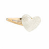 Platinum Leather Heart Clip - mini or signature