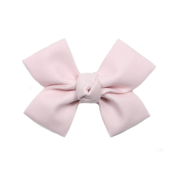 Small Plié Pink Loop Bow Clip
