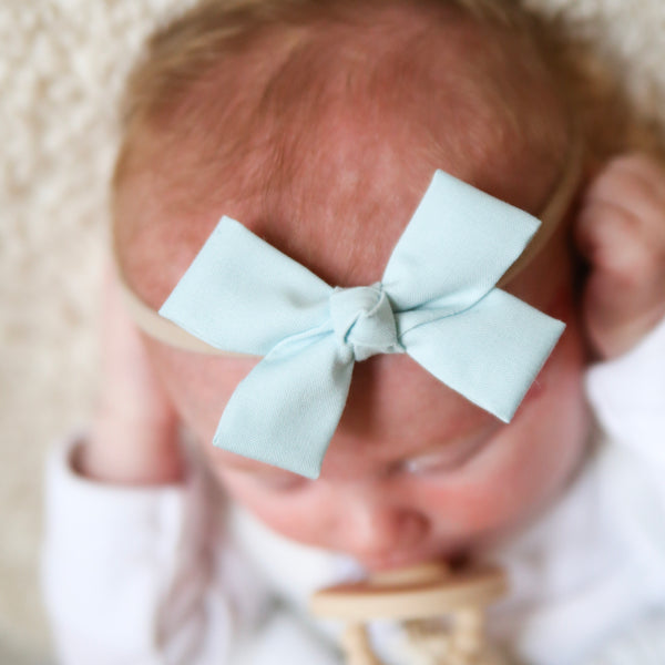 Powder Blue Loop Bow Headband