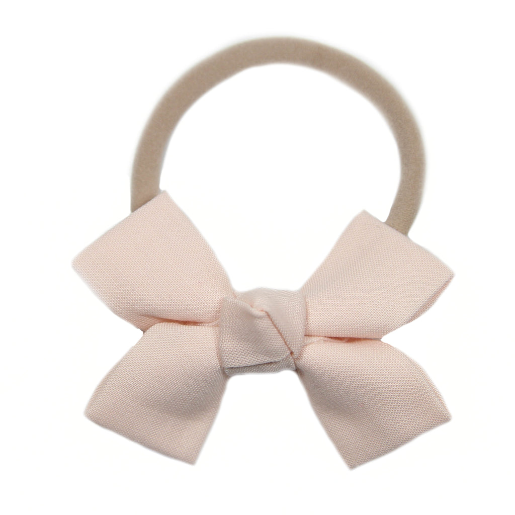 Shell Pink Loop Bow Headband