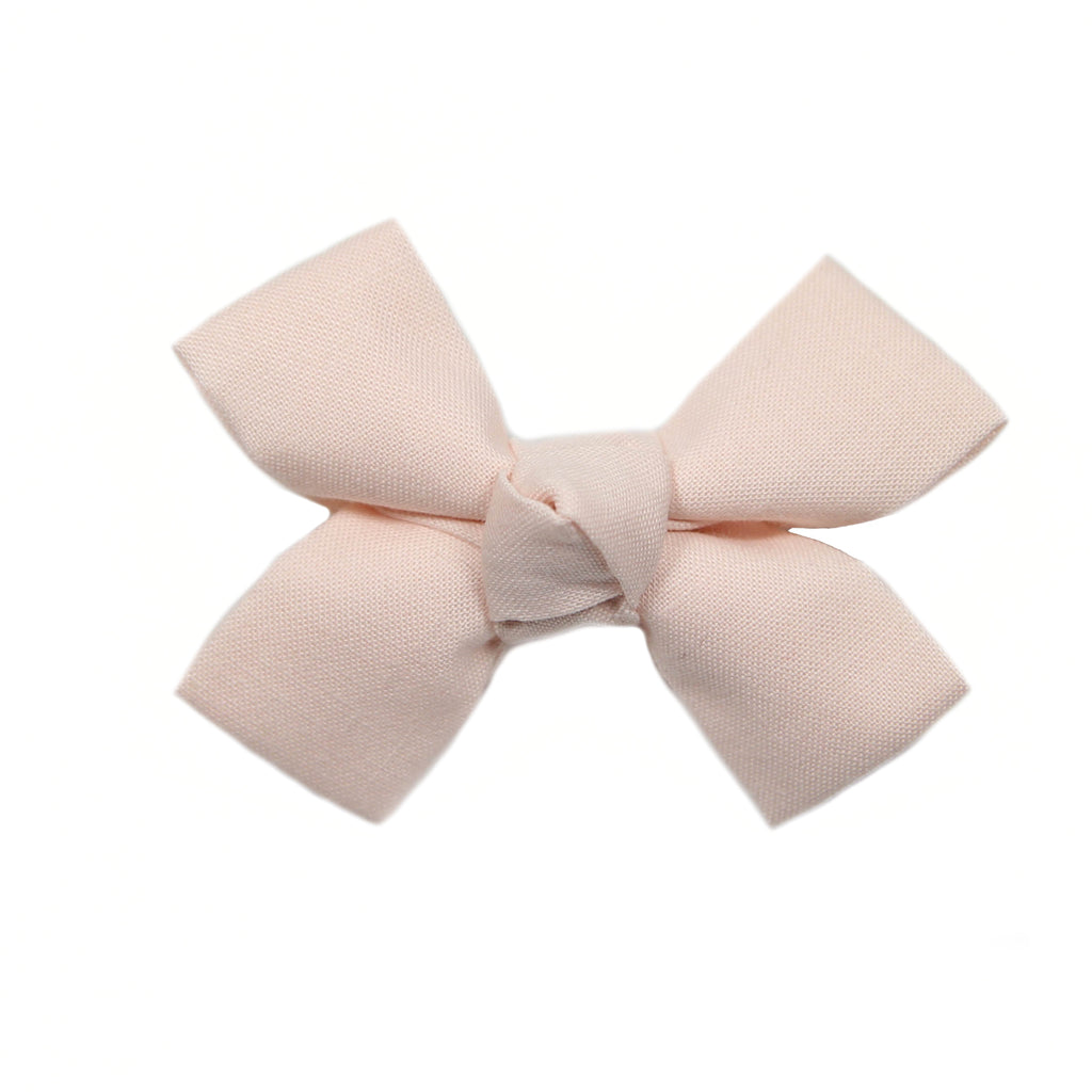 Small Shell Pink Loop Bow Clip
