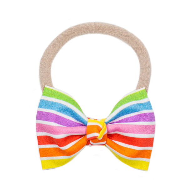 Signature Vibrant Rainbow Bow Headband
