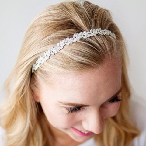 Adult Silver Isla Lace Headband