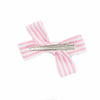 Small Pink and White Stripe Loop Bow Clip