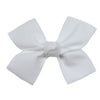 Large White Loop Bow Clip