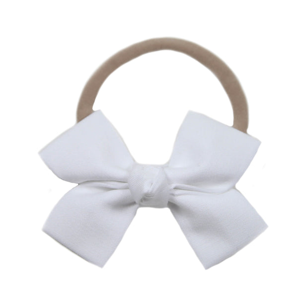 White Loop Bow Headband