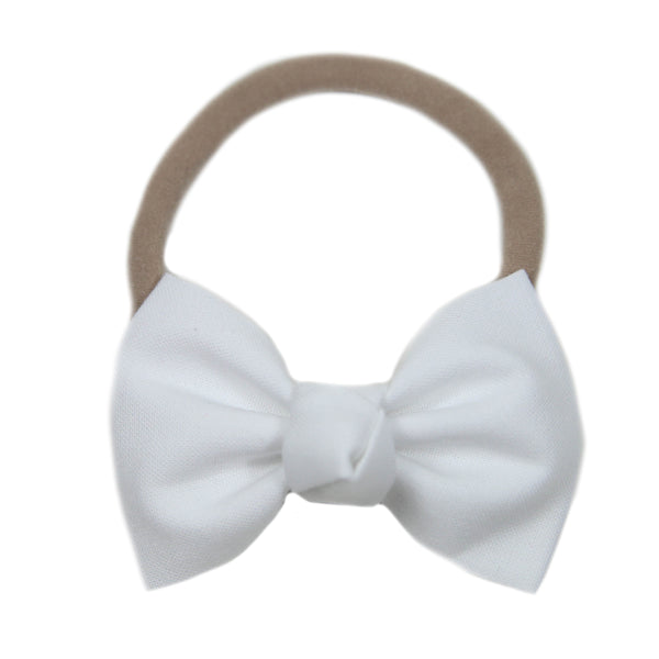 Signature White Bow Headband