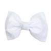 White Swiss Dot Ballet Bow