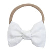 Signature White Swiss Dot Bow Headband