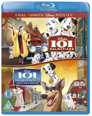 101 Dalmatians 1 AND II Patch's London Adventure Blu-Ray