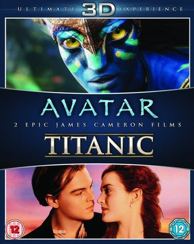 James Cameron Films Avatar/Titanic 3D [Blu-ray]