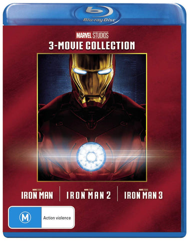 Iron Man Trilogy Box Set Collection Iron Man/Iron Man 2/Iron Man 3 Blu-ray