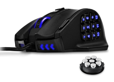 Gaming Mouse, UtechSmart Venus 16400 DPI High Precision Laser MMO Gaming Mouse