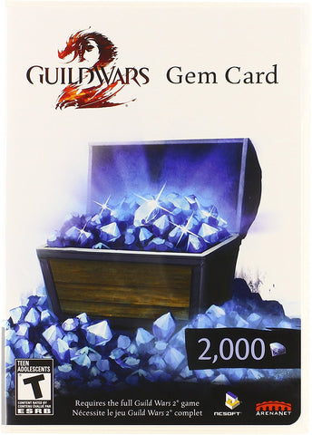 Guild Wars 2 2000 Gem Card - PC