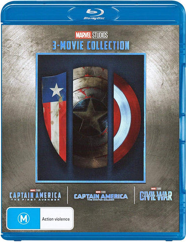 Captain America Trilogy Set Collection First Avenger/Winter Soldier/Civil War