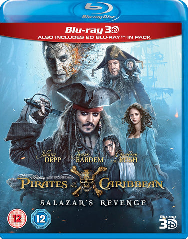Pirates of the Caribbean: Salazar's Revenge 3D Blu-ray 2017