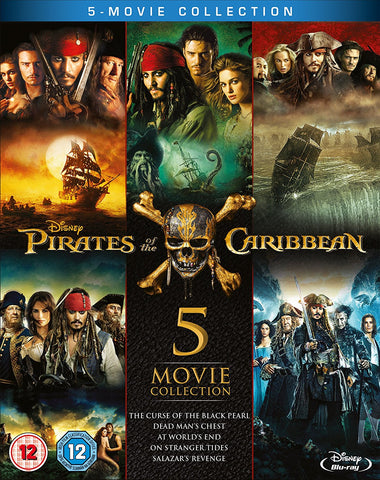 Pirates of the Caribbean: 5 - Movie Complete Collection [Blu-ray]