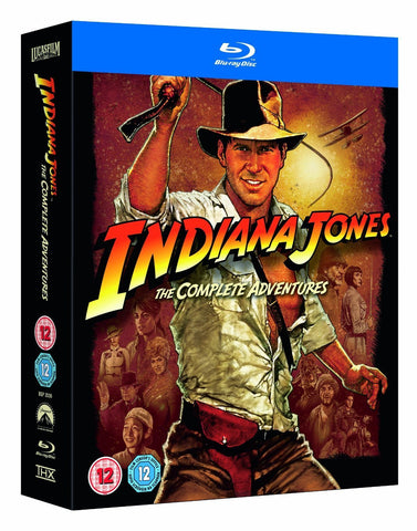 Indiana Jones The Complete Adventures [Blu-ray] 1-4 Box Set Collection