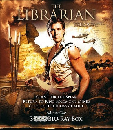 The Librarian Trilogy - 3-Disc Set ( The Librarian: Quest for the Spear / The Librarian: Return to King Solomon's Mines / The Librarian: The Curse of the Ju [ Blu-Ray, Reg.A/B/C Import - Netherlands ]