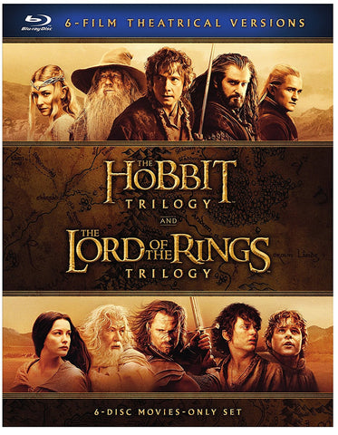 Middle Earth: The Hobbit Trilogy and The Lord of the Rings Trilogy (Blu-Ray)
