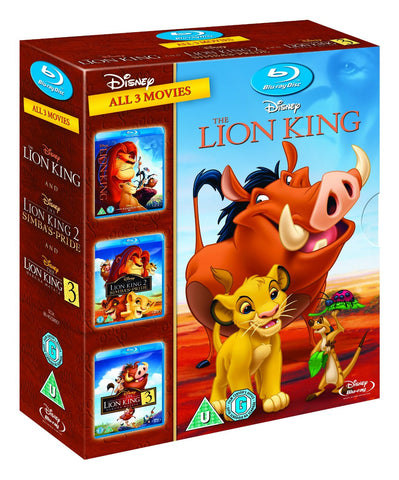 The Lion King Trilogy 1-3 [Blu-ray] 1 2 3 Box Set