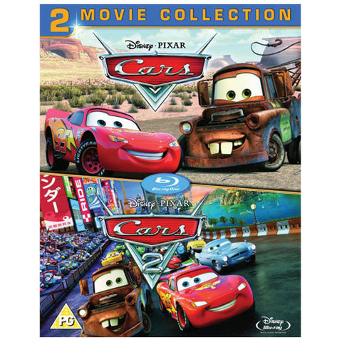 Cars 1 AND Cars 2 Blu-Ray Box Set Disney Movie Collection