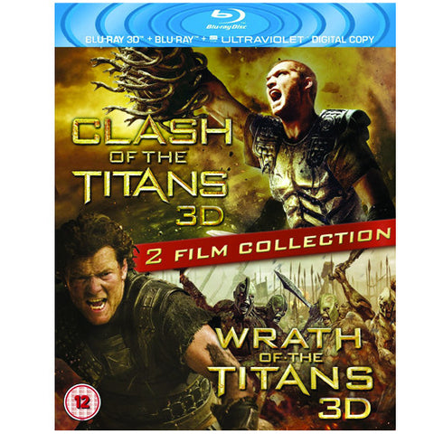Clash of the Titans 3D AND Wrath of the Titans 3D TWO PACK 3D BLU RAY