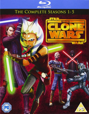 Star Wars Clone Wars: 1-5 Box Set (Blu-Ray) Collection