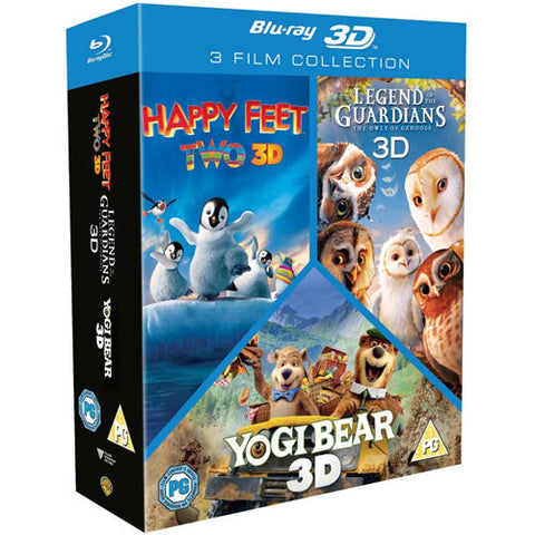 Happy Feet 2 / Yogi Bear / Legend Of The Guardians: The Owls Of Ga'Hoole 3D Triple Pack (6 Discs) [Blu-ray]