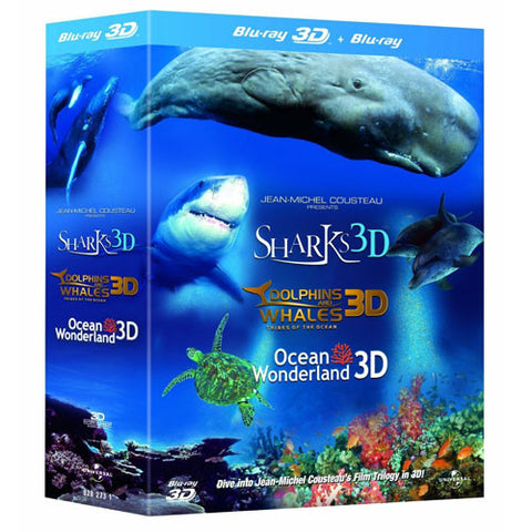 Jean-Michel Cousteau's Film Trilogy 3D (3 Discs) [Blu-ray]