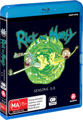 Adult Swim Rick and Morty: Season 1-3 BLU-RAY