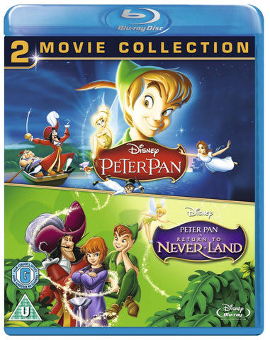 Peter Pan 1 & 2: Return To Never Land 2 Movie Collection (Blu-Ray Disney) NEW