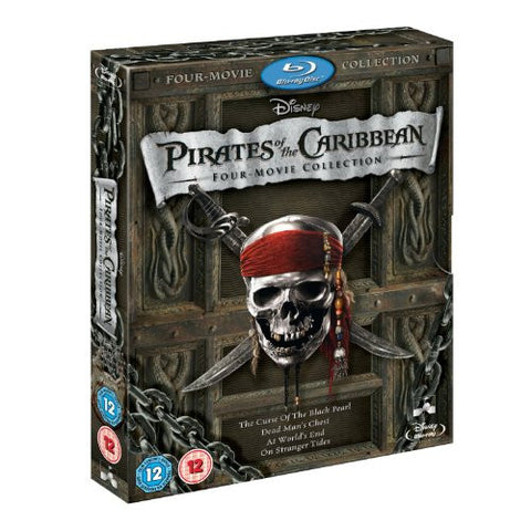 Pirates of Caribbean Blu Ray 1 – 4 Quadrilogy
