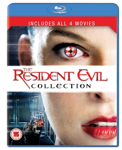 Resident Evil Collection 1-4 Blu Ray Complete Set 1 2 3 4 Free Shipping