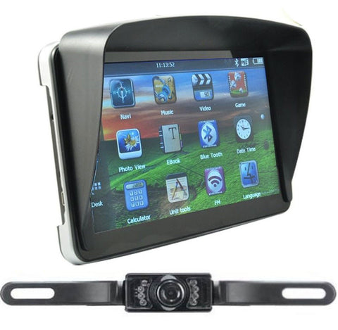 Wired GPS Navigation & Reverse Backup Camera For Trucks & SUV's
