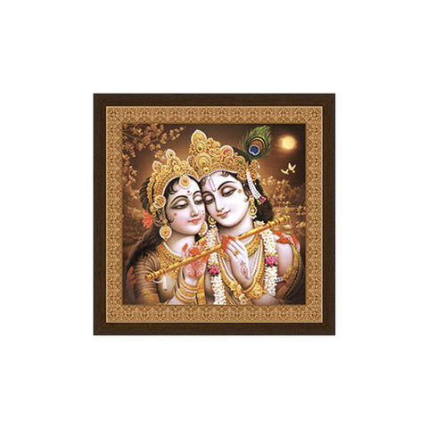 Radha Krishna Canvas Frame in Vintage BacGmround By Returnfavors - Return Favors