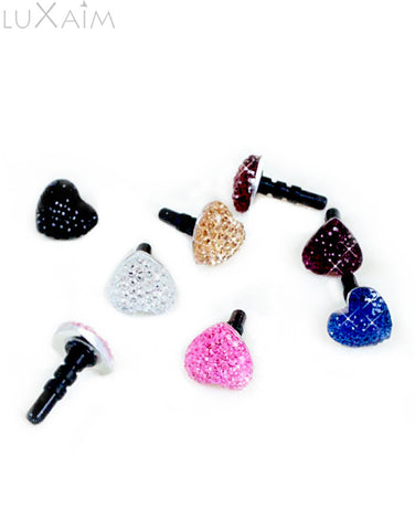 Cool And Twinkling Heart Shaped Mobile Ear Jack Dust Cover - Return Favors - 1
