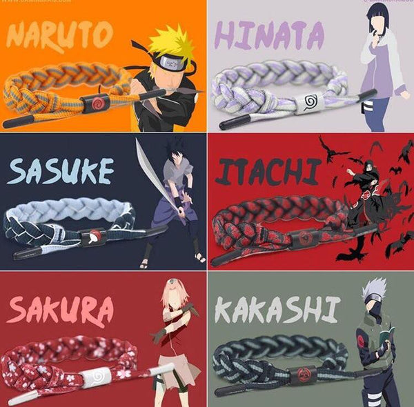 Naruto Characters Bracelet Collection