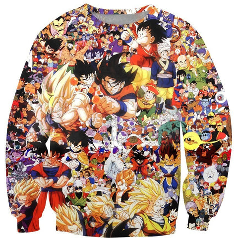 Dragon Ball Characters Sweatshirt