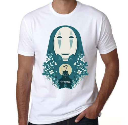 Kaonashi and Spirited Away Characters T-Shirt