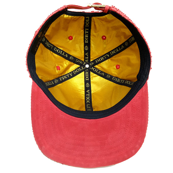 D logo strap back - Red/Gold