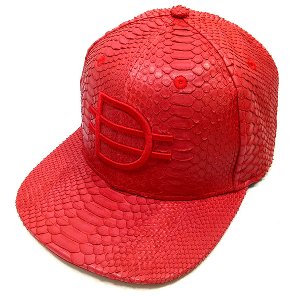 D logo Strap Back - Red/Red